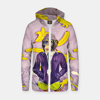 Thumbnail image of Monkey Cotton zip up hoodie, Live Heroes