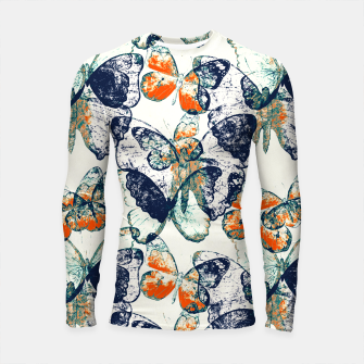 Thumbnail image of Butterfly,blue and red,animal,insect, Longsleeve rashguard , Live Heroes