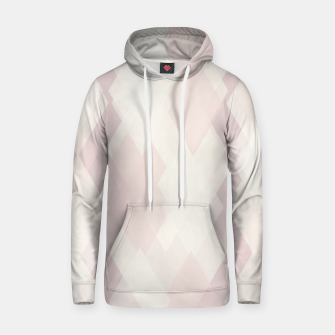 Thumbnail image of Confused Argyle in soft colors Cotton hoodie, Live Heroes