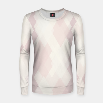 Thumbnail image of Confused Argyle in soft colors Woman cotton sweater, Live Heroes