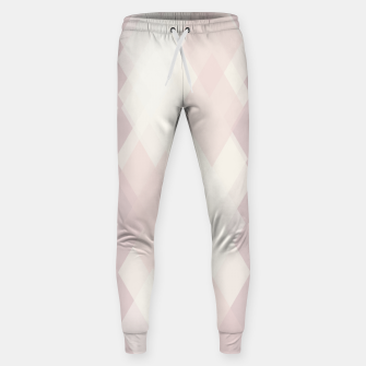 Thumbnail image of Confused Argyle in soft colors Cotton sweatpants, Live Heroes
