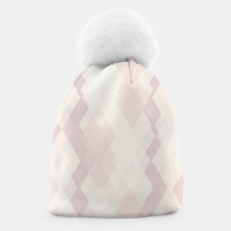 Thumbnail image of Confused Argyle in soft colors Beanie, Live Heroes