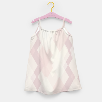 Thumbnail image of Confused Argyle in soft colors Girl's dress, Live Heroes
