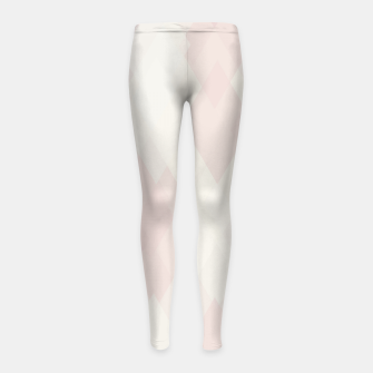 Thumbnail image of Confused Argyle in soft colors Girl's leggings, Live Heroes