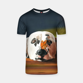 Thumbnail image of Dalmatian Dog With Butterfly Koszulka, Live Heroes