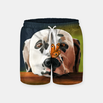 Thumbnail image of Dalmatian Dog With Butterfly Szorty kąpielowe, Live Heroes