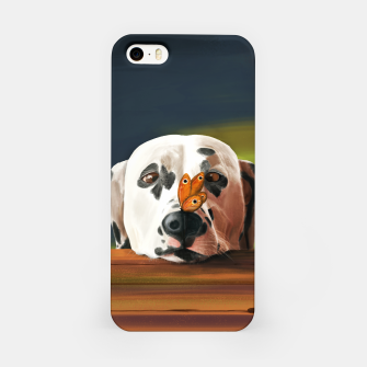 Thumbnail image of Dalmatian Dog With Butterfly Obudowa iPhone, Live Heroes
