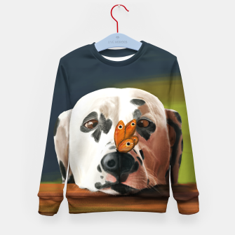 Thumbnail image of Dalmatian Dog With Butterfly Bluza dziecięca, Live Heroes