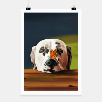 Thumbnail image of Dalmatian Dog With Butterfly Plakat, Live Heroes