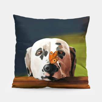 Thumbnail image of Dalmatian Dog With Butterfly Poduszka, Live Heroes