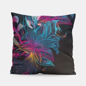 Thumbnail image of Grim Flowers Pillow, Live Heroes