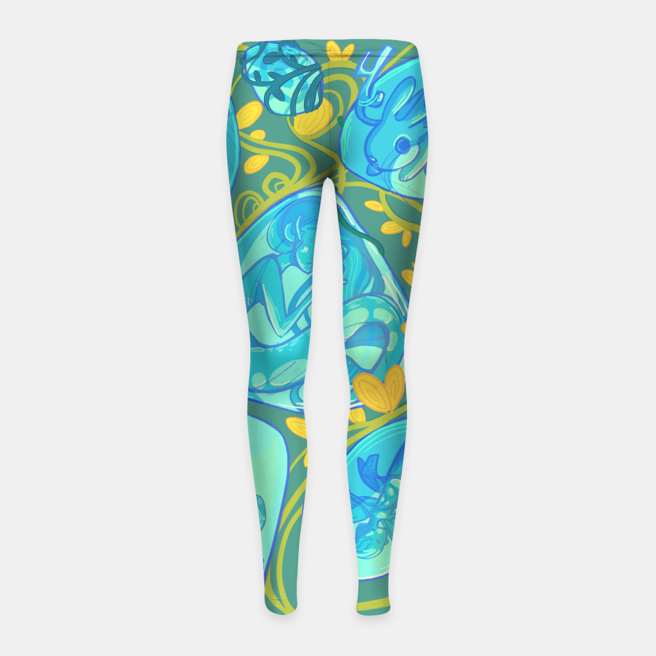 Image of Gemstone Menagerie Girl's leggings - Live Heroes