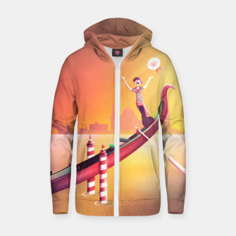 Thumbnail image of Venice Seesaw Cotton zip up hoodie, Live Heroes