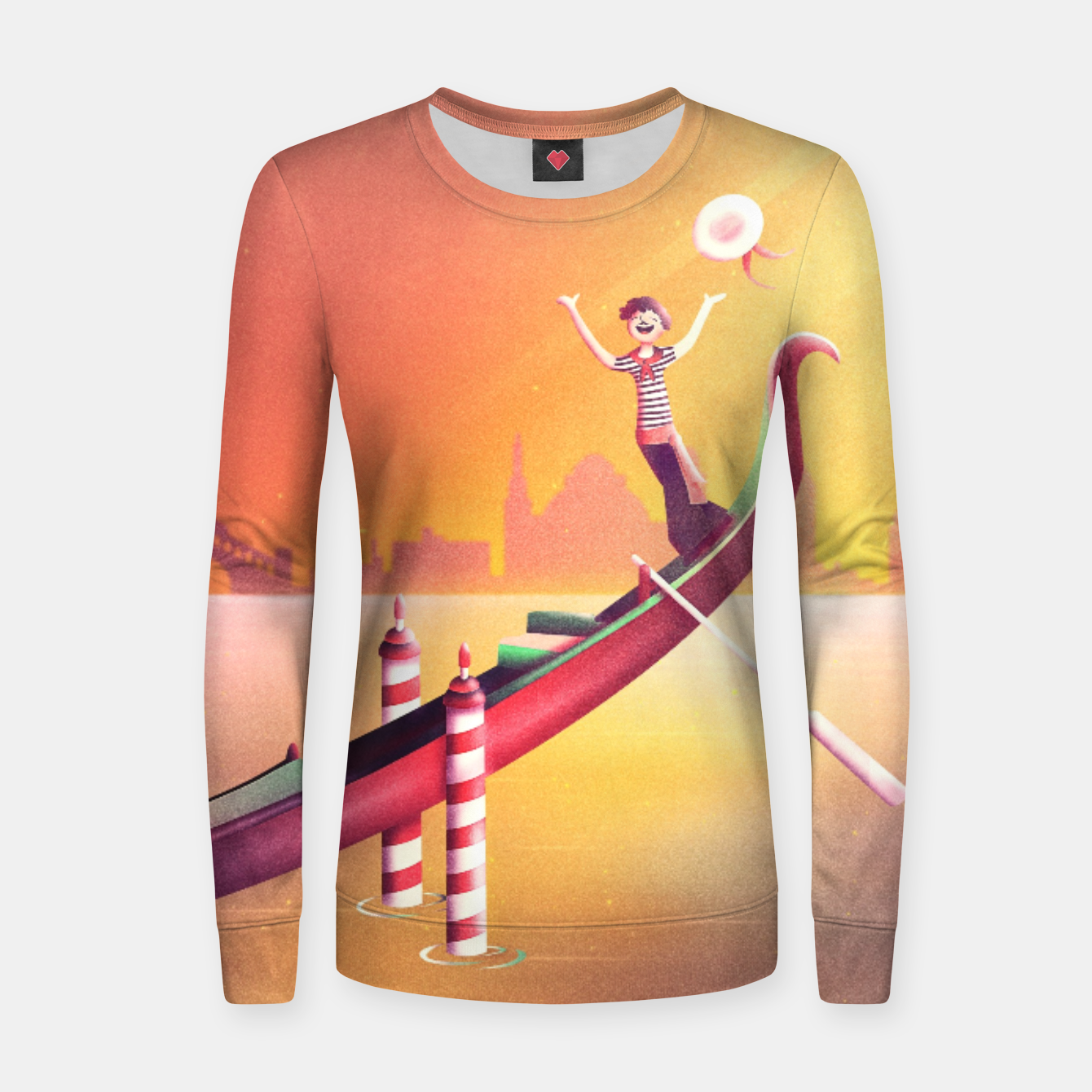 Image of Venice Seesaw Woman cotton sweater - Live Heroes