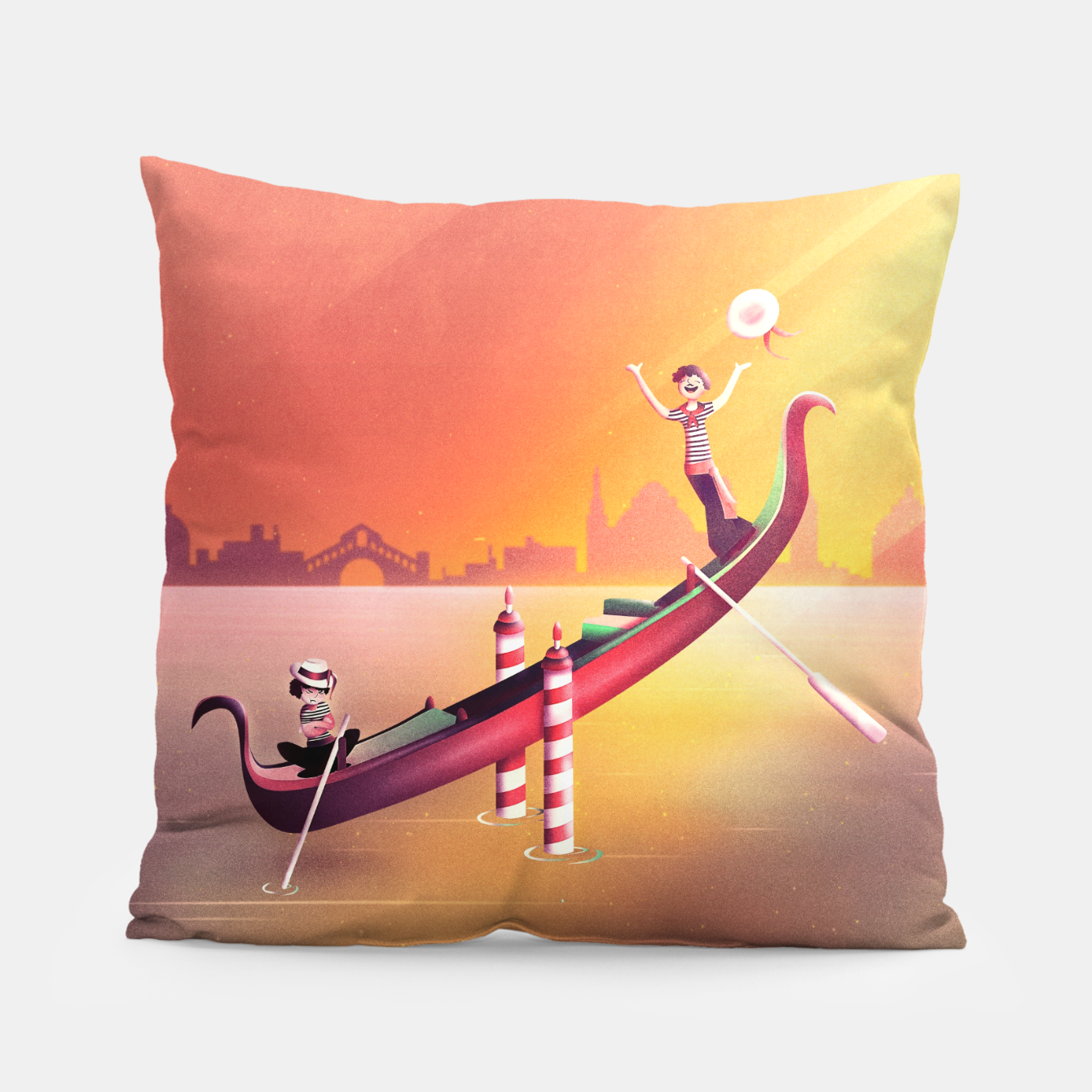 Image of Venice Seesaw Pillow - Live Heroes