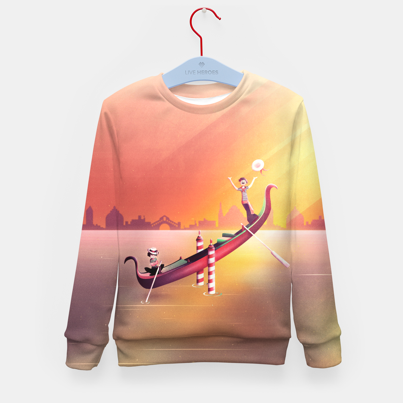 Image of Venice Seesaw Kid's sweater - Live Heroes