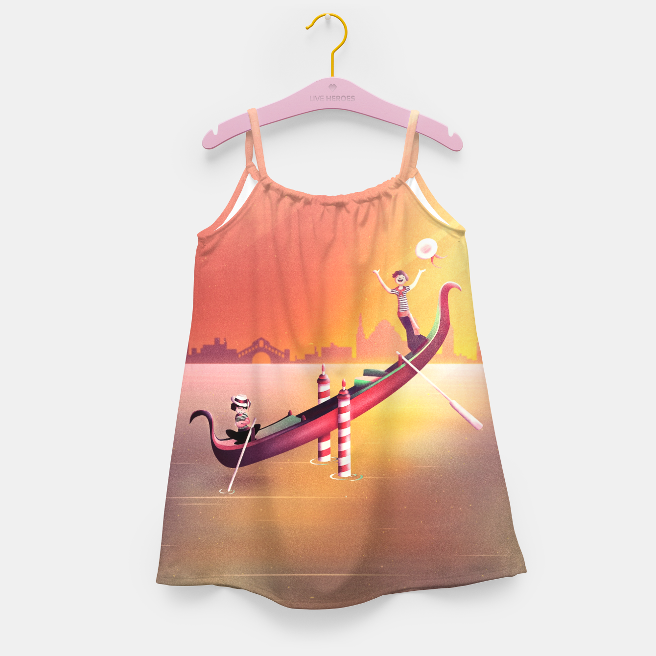 Image of Venice Seesaw Girl's dress - Live Heroes