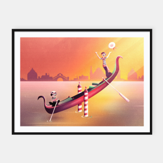 Thumbnail image of Venice Seesaw Framed poster, Live Heroes