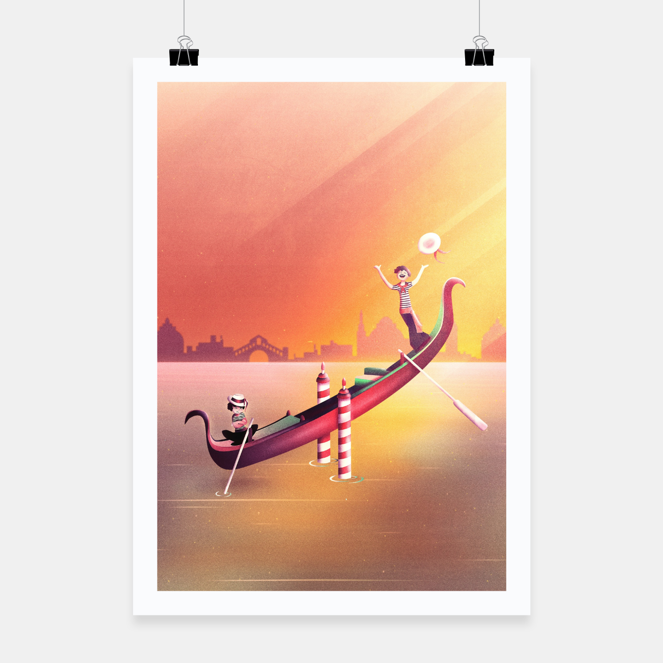 Image of Venice Seesaw Poster - Live Heroes