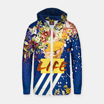 Thumbnail image of Life Cotton zip up hoodie, Live Heroes