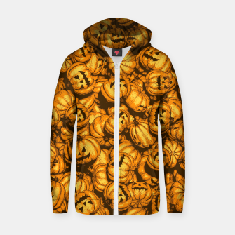 Thumbnail image of Halloween Pumpkins Pattern Zip up hoodie, Live Heroes