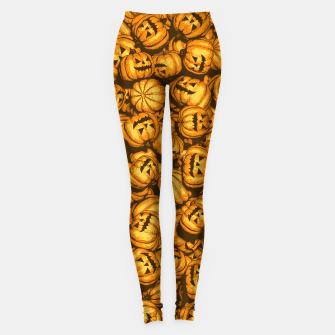Thumbnail image of Halloween Pumpkins Pattern Leggings, Live Heroes