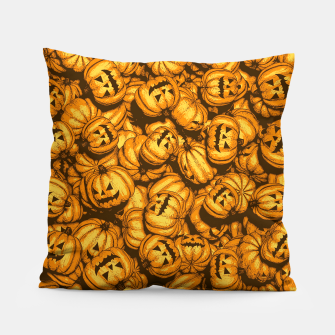 Thumbnail image of Halloween Pumpkins Pattern Pillow, Live Heroes