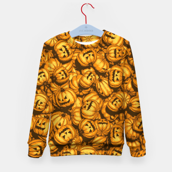 Thumbnail image of Halloween Pumpkins Pattern Kid's sweater, Live Heroes