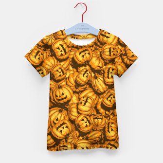 Thumbnail image of Halloween Pumpkins Pattern Kid's t-shirt, Live Heroes