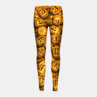 Thumbnail image of Halloween Pumpkins Pattern Girl's leggings, Live Heroes