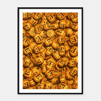 Thumbnail image of Halloween Pumpkins Pattern Framed poster, Live Heroes