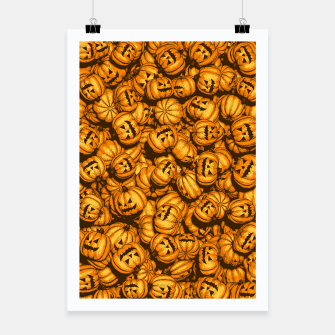 Thumbnail image of Halloween Pumpkins Pattern Poster, Live Heroes