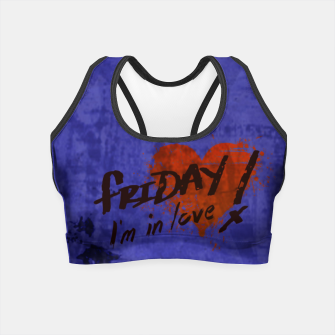 Miniatur Quote -  friday, I'm in love Crop Top, Live Heroes