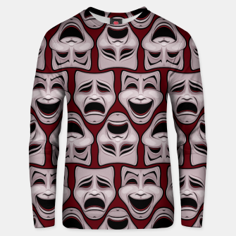 Thumbnail image of Comedy And Tragedy Theater Masks Pattern Unisex sweater, Live Heroes