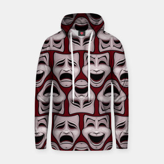 Thumbnail image of Comedy And Tragedy Theater Masks Pattern Hoodie, Live Heroes