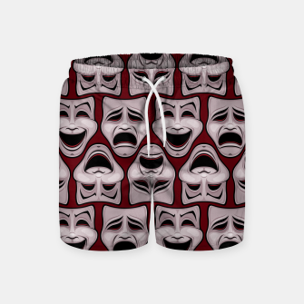 Thumbnail image of Comedy And Tragedy Theater Masks Pattern Swim Shorts, Live Heroes