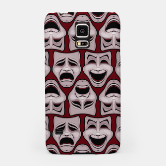 Thumbnail image of Comedy And Tragedy Theater Masks Pattern Samsung Case, Live Heroes