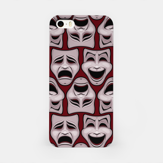 Thumbnail image of Comedy And Tragedy Theater Masks Pattern iPhone Case, Live Heroes