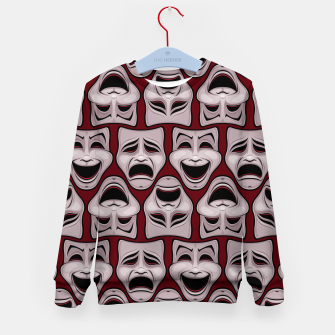 Thumbnail image of Comedy And Tragedy Theater Masks Pattern Kid's sweater, Live Heroes