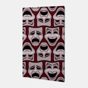 Thumbnail image of Comedy And Tragedy Theater Masks Pattern Canvas, Live Heroes