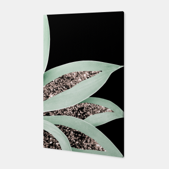 Thumbnail image of Agave Finesse Glitter Glam #2 #tropical #decor #art Canvas, Live Heroes