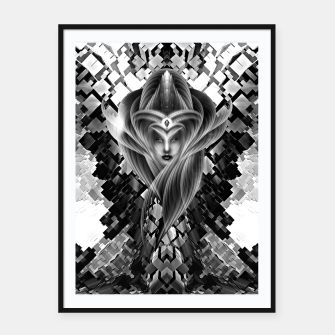 Thumbnail image of Mistress Of The Cuboid GS Framed poster, Live Heroes