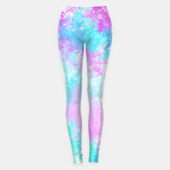 Thumbnail image of Blue pink abstract Leggings, Live Heroes