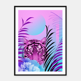 Thumbnail image of Tiger Love Framed poster, Live Heroes