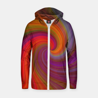 Miniatur Rainbow Vortex Zip up hoodie, Live Heroes