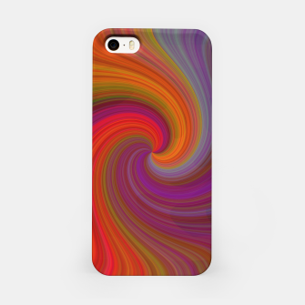 Miniatur Rainbow Vortex iPhone Case, Live Heroes