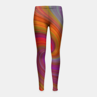 Miniatur Rainbow Vortex Girl's leggings, Live Heroes