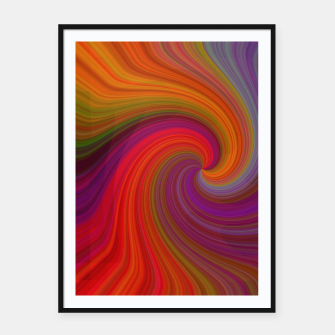 Thumbnail image of Rainbow Vortex Framed poster, Live Heroes