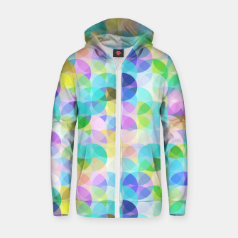Blue Bubbles Zip up hoodie Bild der Miniatur
