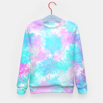 Thumbnail image of Blue pink abstract Kid's sweater, Live Heroes